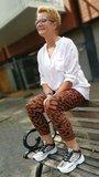 1 maat broek leopard print brique_