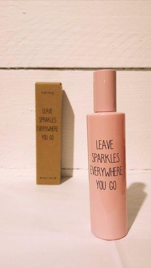 huisparfum Leave sparkles roze 100ml