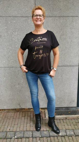 Savinni shirt Atelier Zwart-goud