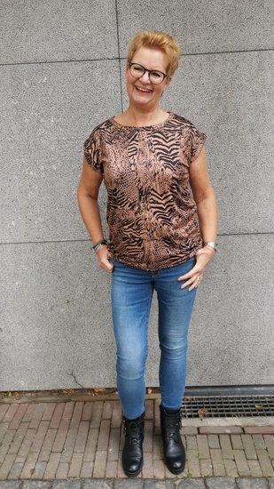 Savinni shirt animal Taupe