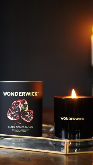 Wonderwick kaars Black Pomegranate