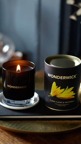 Wonderwick kaars Ylang Ylang & Patchouli