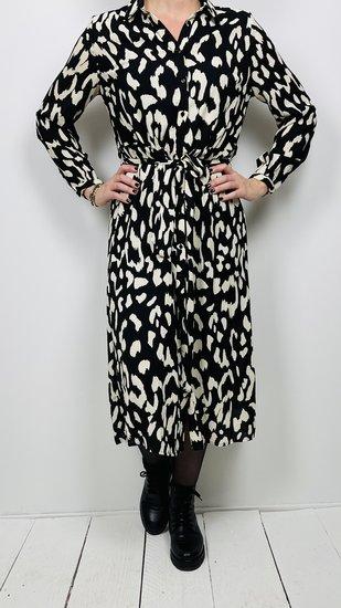 Akoz jurk lang Zwart Wit