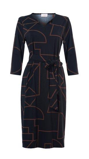 Daelin travel jurk print in 2 kleuren verkrijgbaar