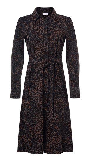 Daelin travel jurk doorknoop print