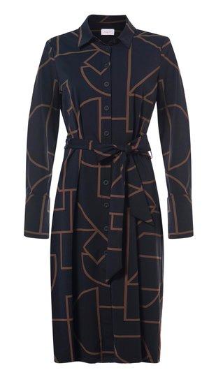 Daelin travel jurk doorknoop print in 2 kleuren verkrijgbaar