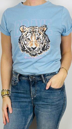Ambika shirt tijger blauw