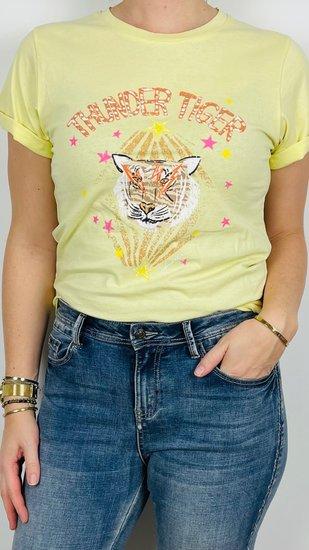 Ambika shirt geel tijger