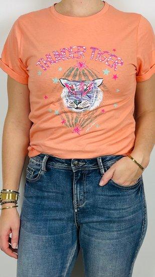 Ambika shirt coral tijger