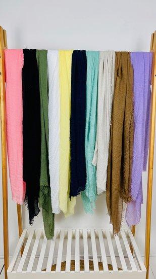 Sjaal uni in 10 kleuren verkrijgbaar