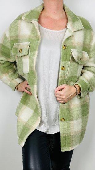groen ruit jas/vest